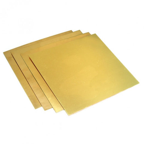 0.7MM X1000X1000 Brass Sheet Off Cut (Grade C272)