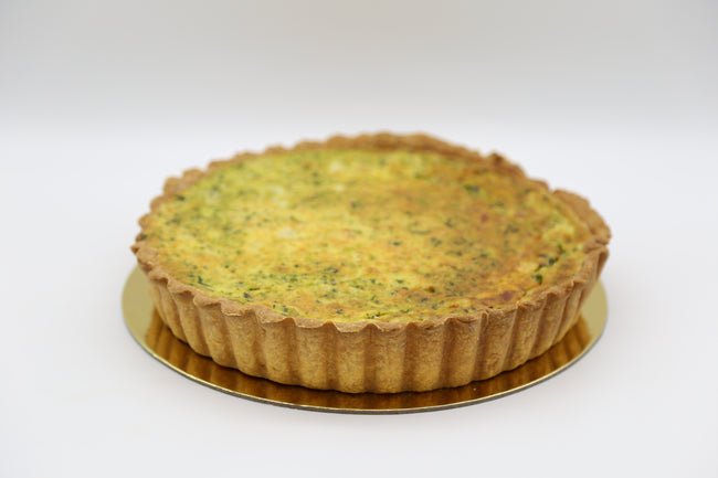Spinach and Ricotta Quiche (V)
