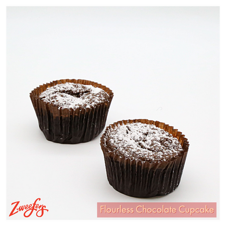 Zweefers Flourless Chocolate Cupcake