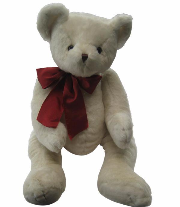 BEARINGTON COLLECTION Soft Plush White Teddy Bear