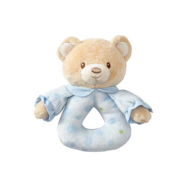 ENESCO GIFT Soft Plush Blue Teddy Bear Rattle