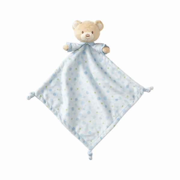 "ENESCO GIFT Soft Plush Blue Bear ""Lovey"" Infant Throw Blanket - Blue"
