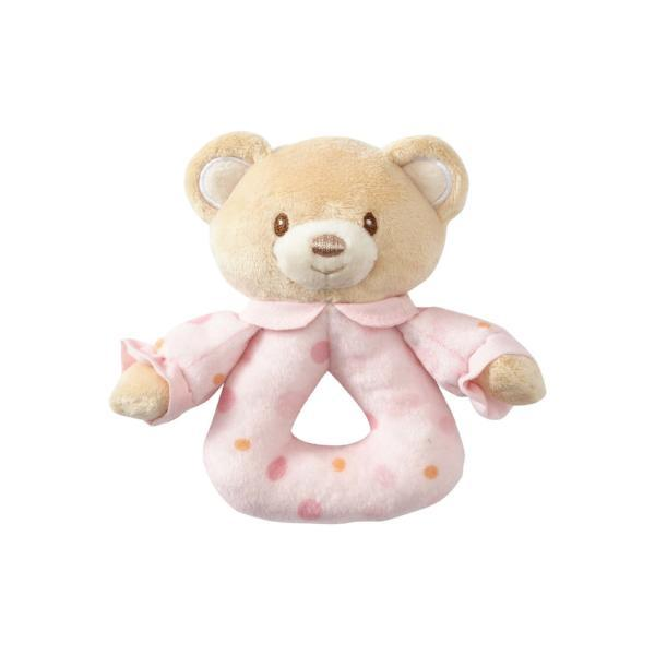 ENESCO GIFT Pink Bear Rattle