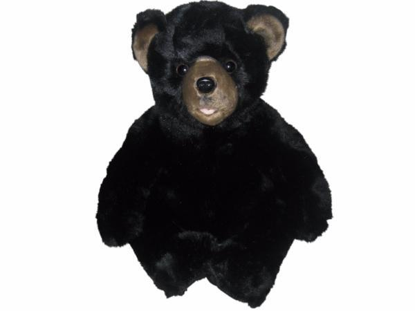 BEARINGTON BEAR Soft Plush Medium Black Teddy Bear Spirit