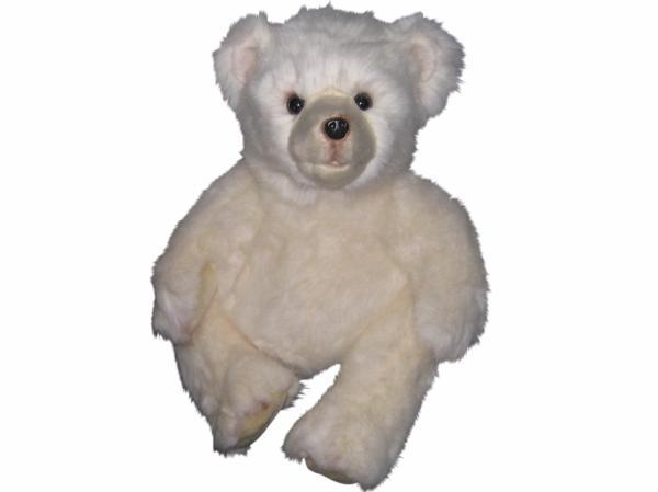 BEARINGTON BEAR Soft Plush Medium White Teddy Bear Winter