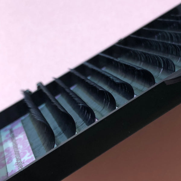 How many lashes are there on a lash tray?
