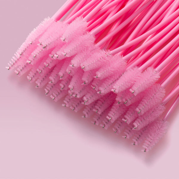 Pear Shape Pink Mascara Brushes