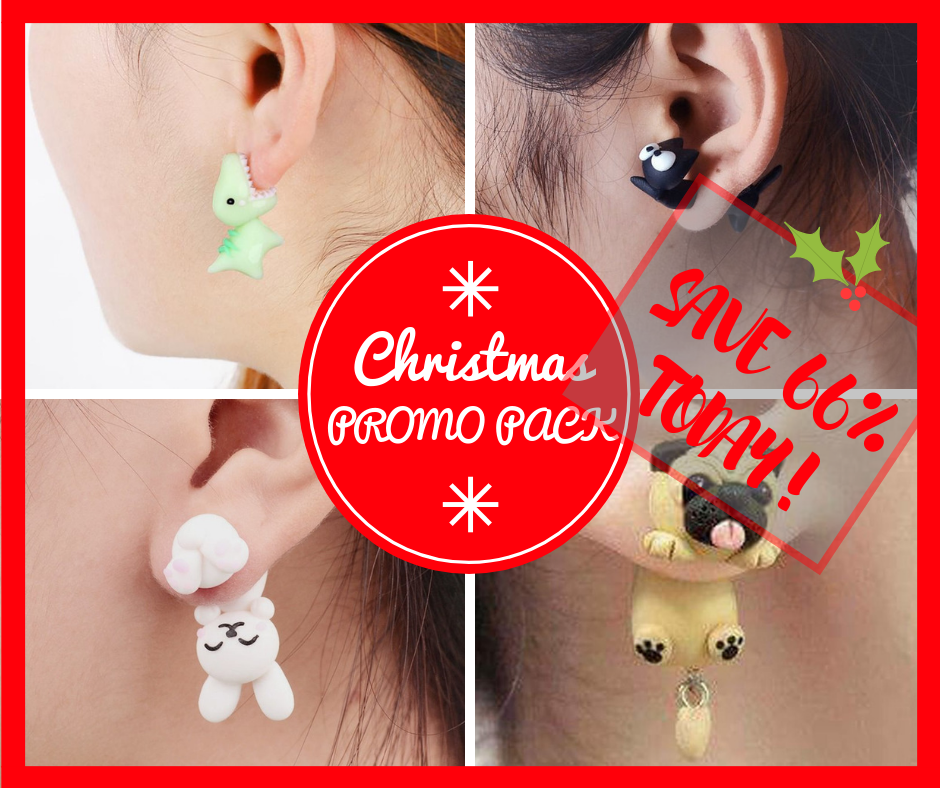 CHRISTMAS PROMO PACK - Stud Earrings