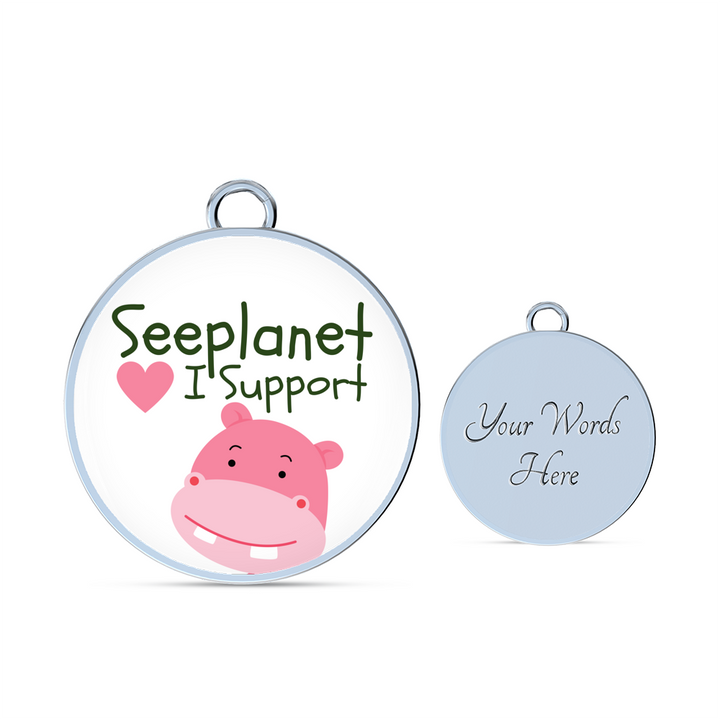 "SEEPLANET ""I SUPPORT HIPPOS"" LIMITED EDITION BRACELET AND BANGLE"