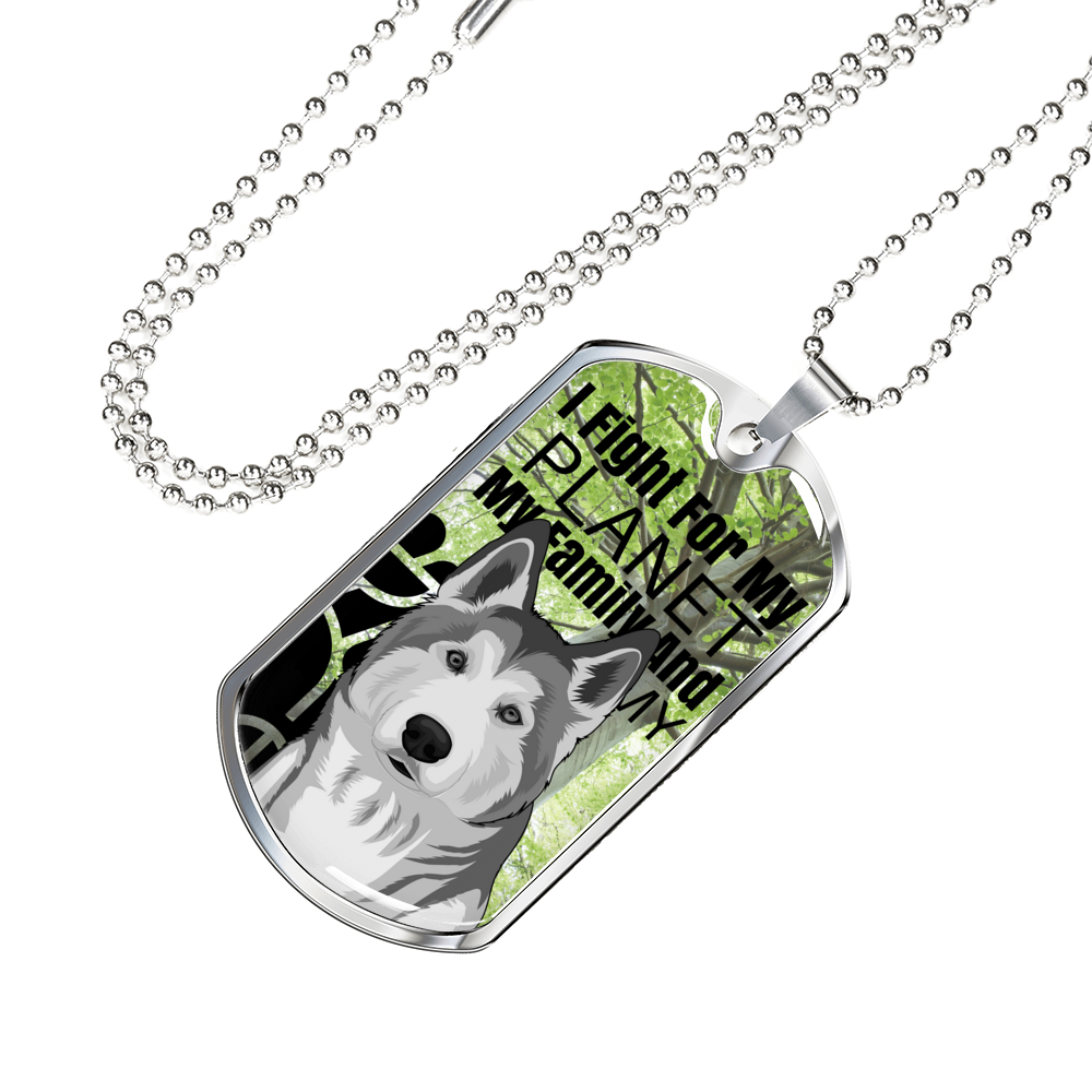 """Fight for the Planet"" LIMITED EDITION Custom Animal Dog Tag"