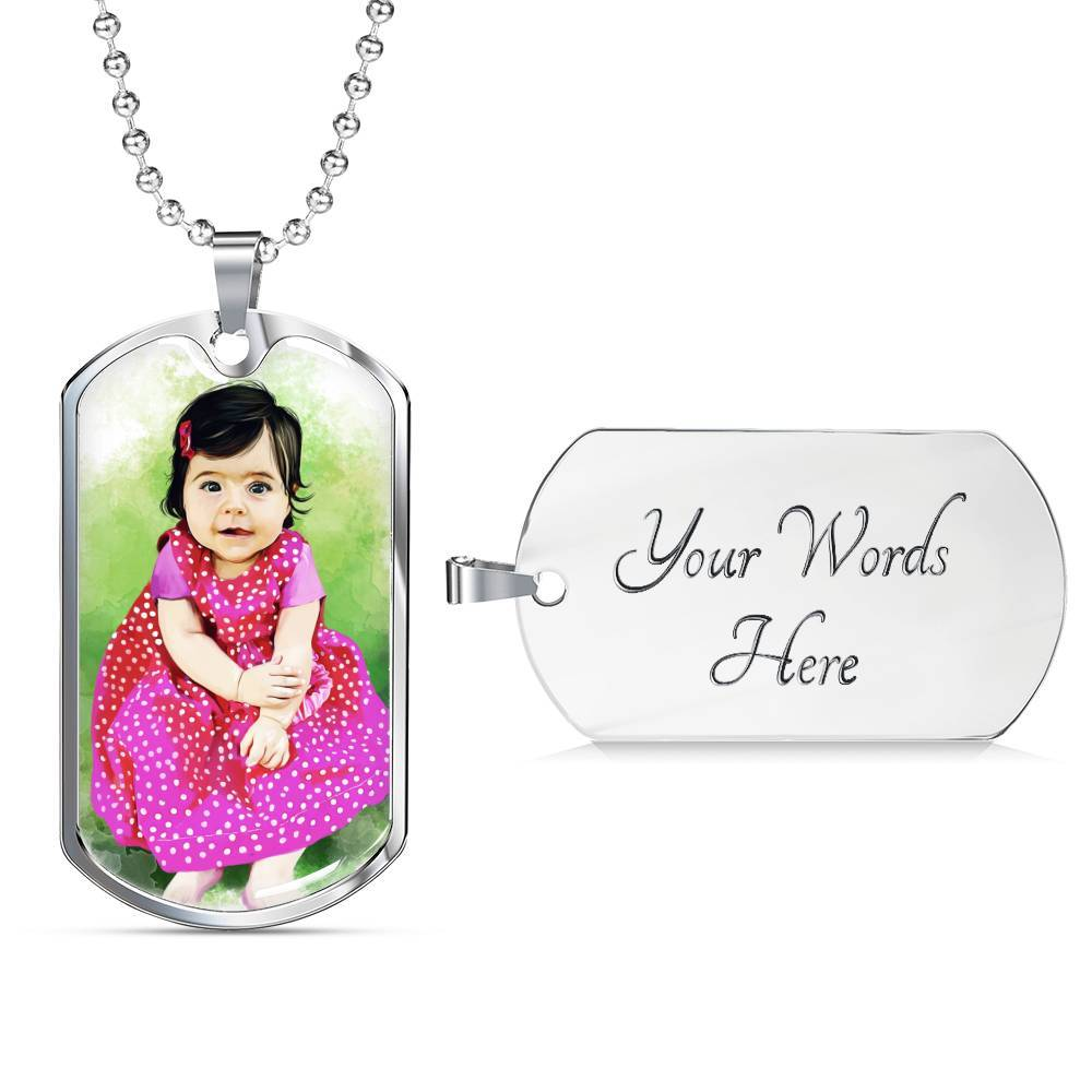 CUSTOM Baby Tag Necklace