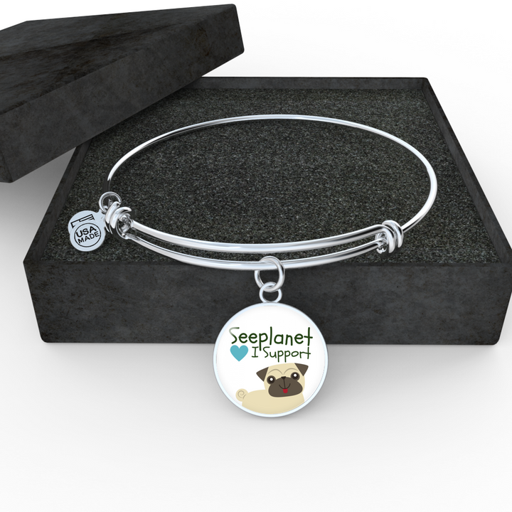 "SEEPLANET ""I SUPPORT DOGS"" LIMITED EDITION BRACELET AND BANGLE"