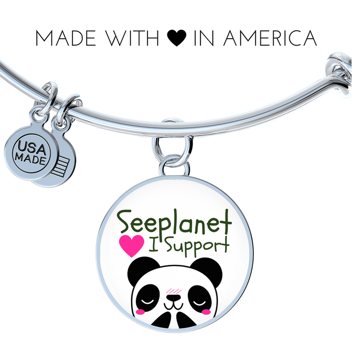 "SEEPLANET ""I SUPPORT PANDAS"" LIMITED EDITION BRACELET AND BANGLE"