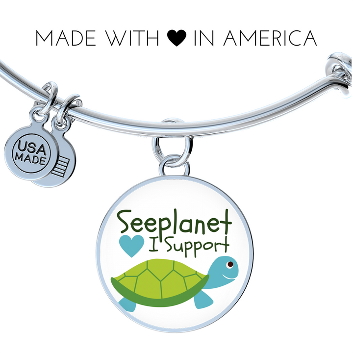 "SEEPLANET ""I SUPPORT TURTLES"" LIMITED EDITION BRACELET AND BANGLE"