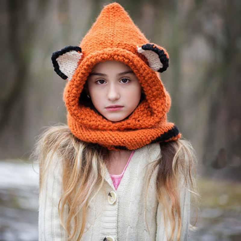 Foxy Grown-Up Hooded Scarf