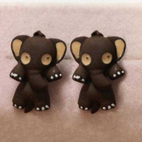 hugerect multiple cute product stud elephant rhinestones earring color