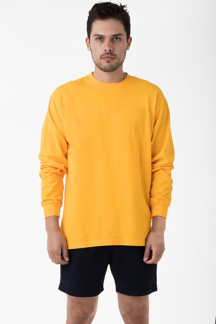 1807GD - 6.5oz Long Sleeve Garment Dye Crew Neck T-Shirt