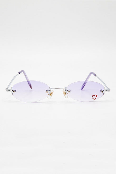 SGHEART - Heartbreaker Skinny Sunglasses with Red Heart Decal