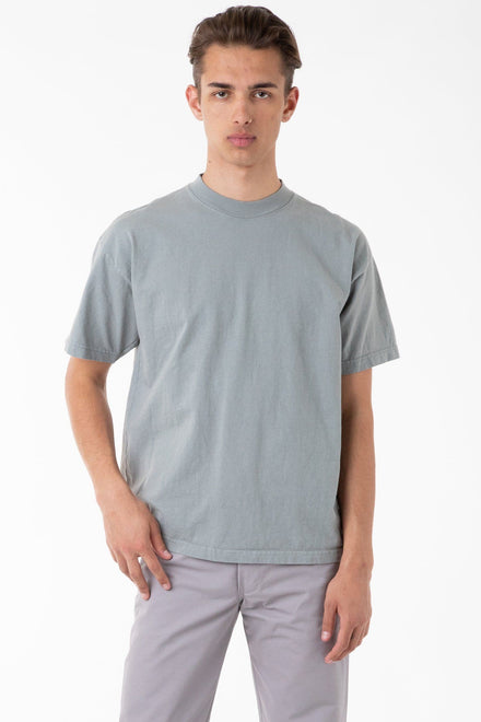 1405GD - Short Sleeve Garment Dye Mockneck T-Shirt