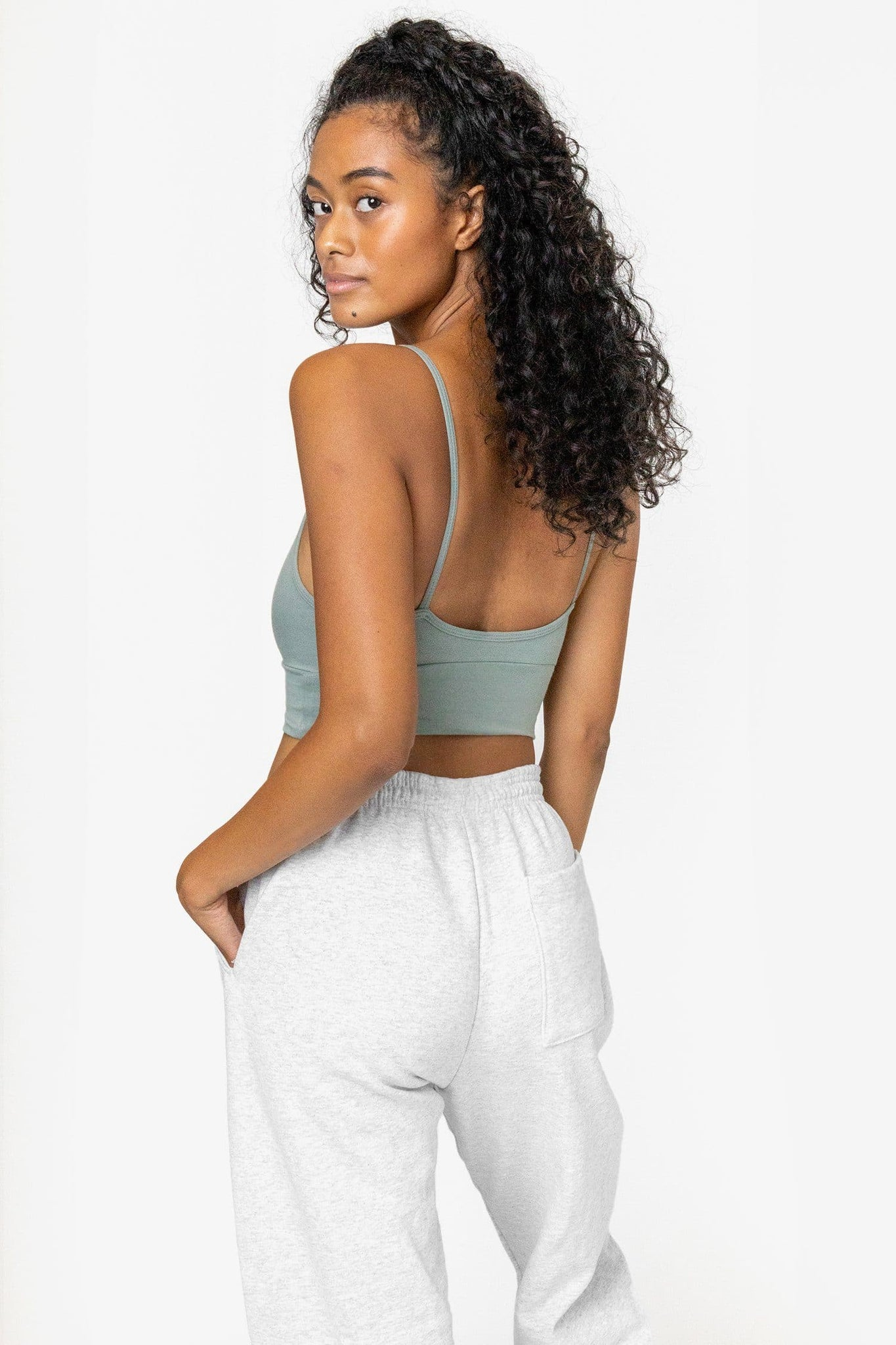 83076GD - Crossover Wrap Crop Top