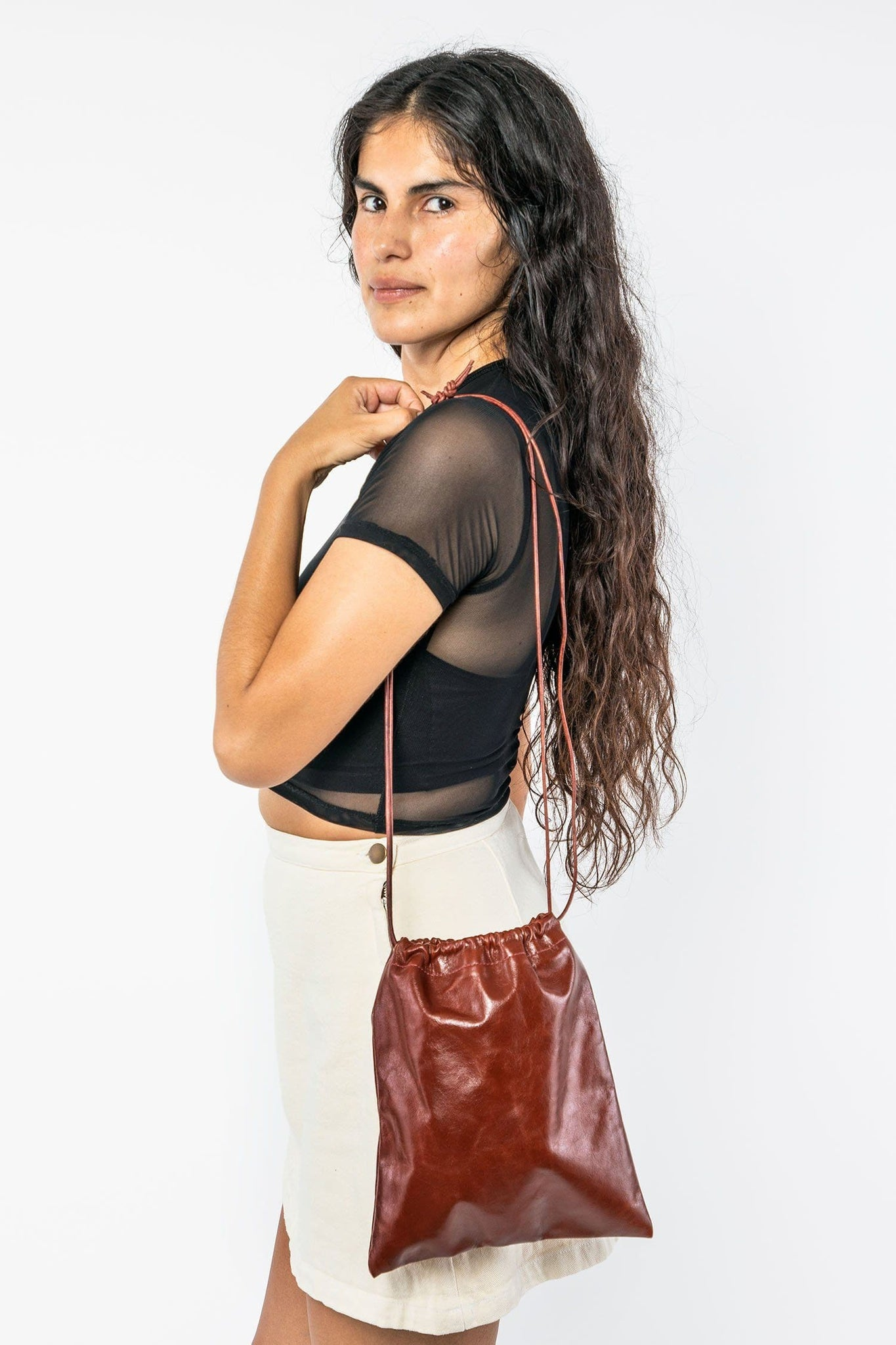 CWLTR002 - Cowhide Drawstring Bag