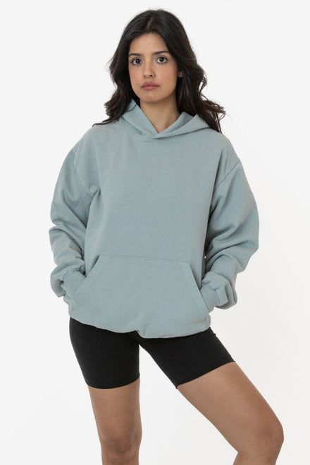HF09GD Unisex - Garment Dye 14oz. Heavy Fleece Hooded Pullover Sweatshirt (New & Now)