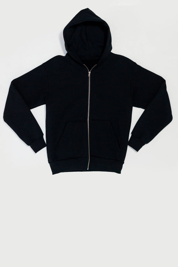 Hf 10 14oz Heavy Fleece Zip Up Hooded Sweatshirt Los Angeles Apparel