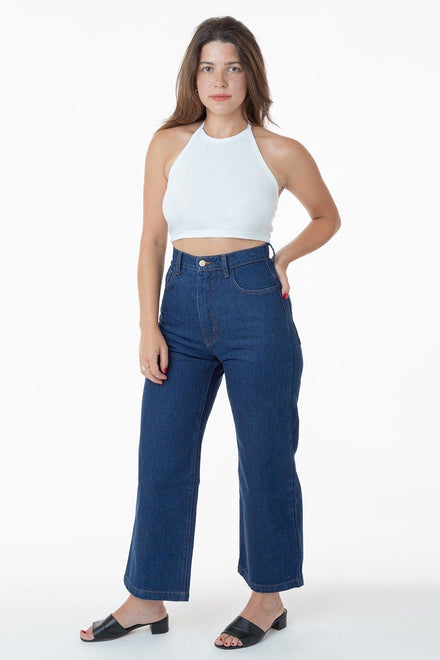 RDNW09 - High Waisted Wide Leg Denim Jean