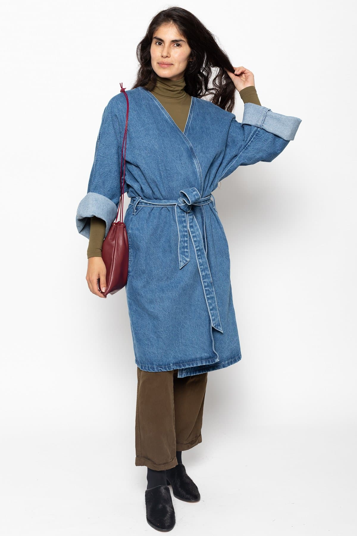 RDNW312 - The Oversized Denim Wrap Coat