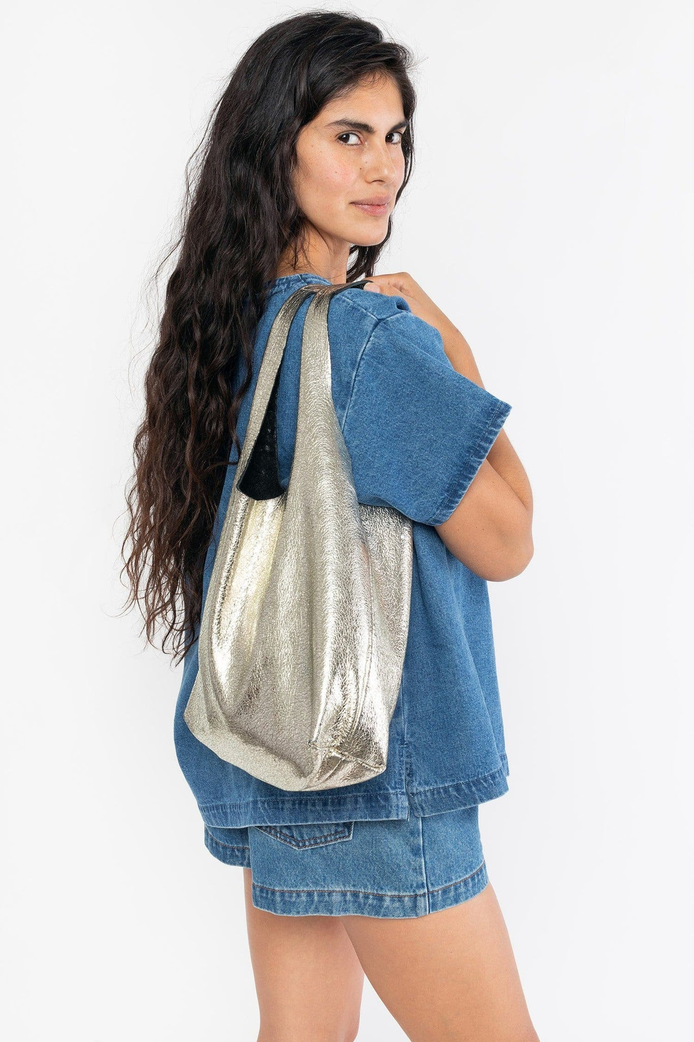 RLH3405 - Embellished Leather Shopping Bag