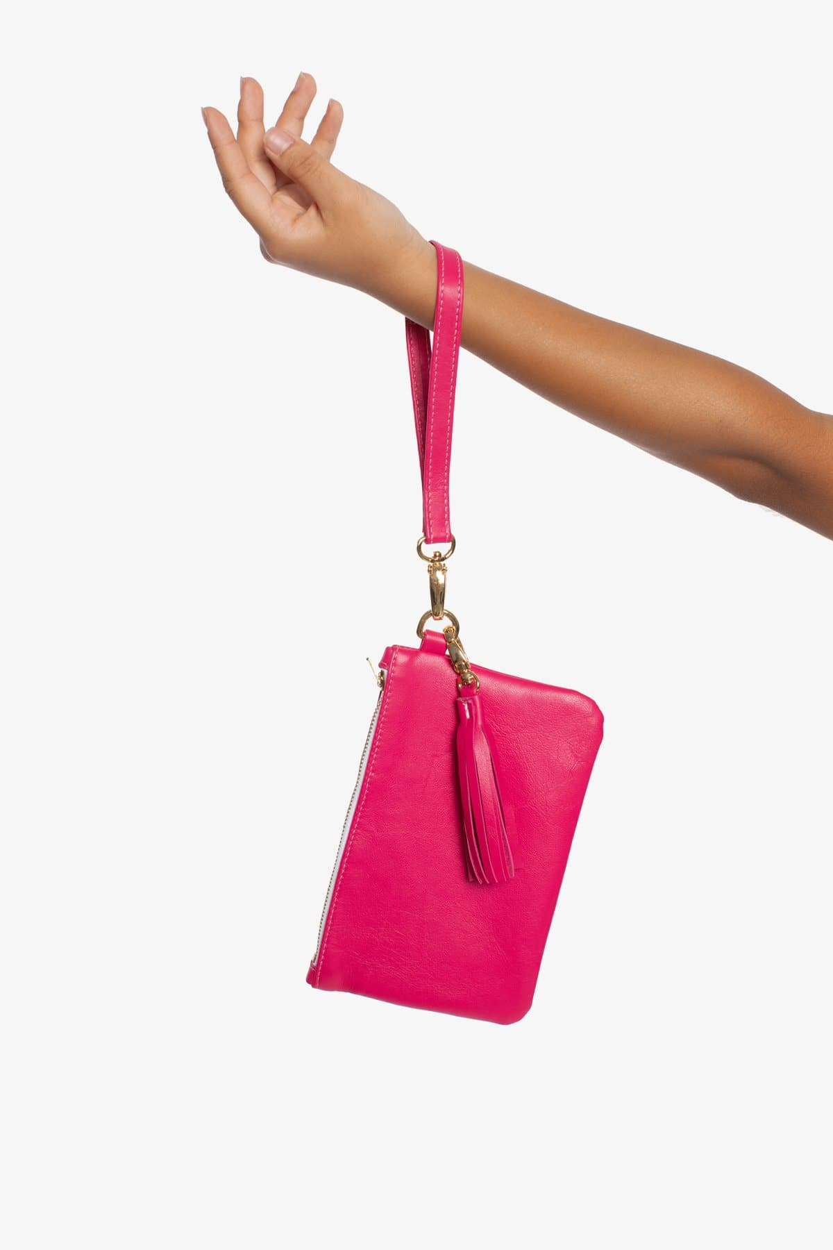 RLH3407 - The Leather Wristlet Zip Pouch