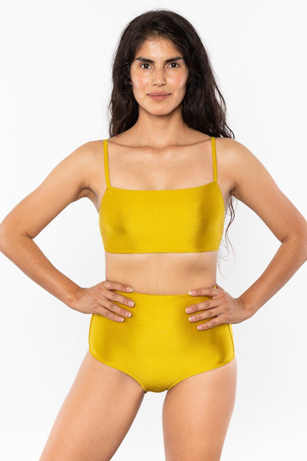 RNT075 - The Monochromatic Minimalist Crop Swim Top