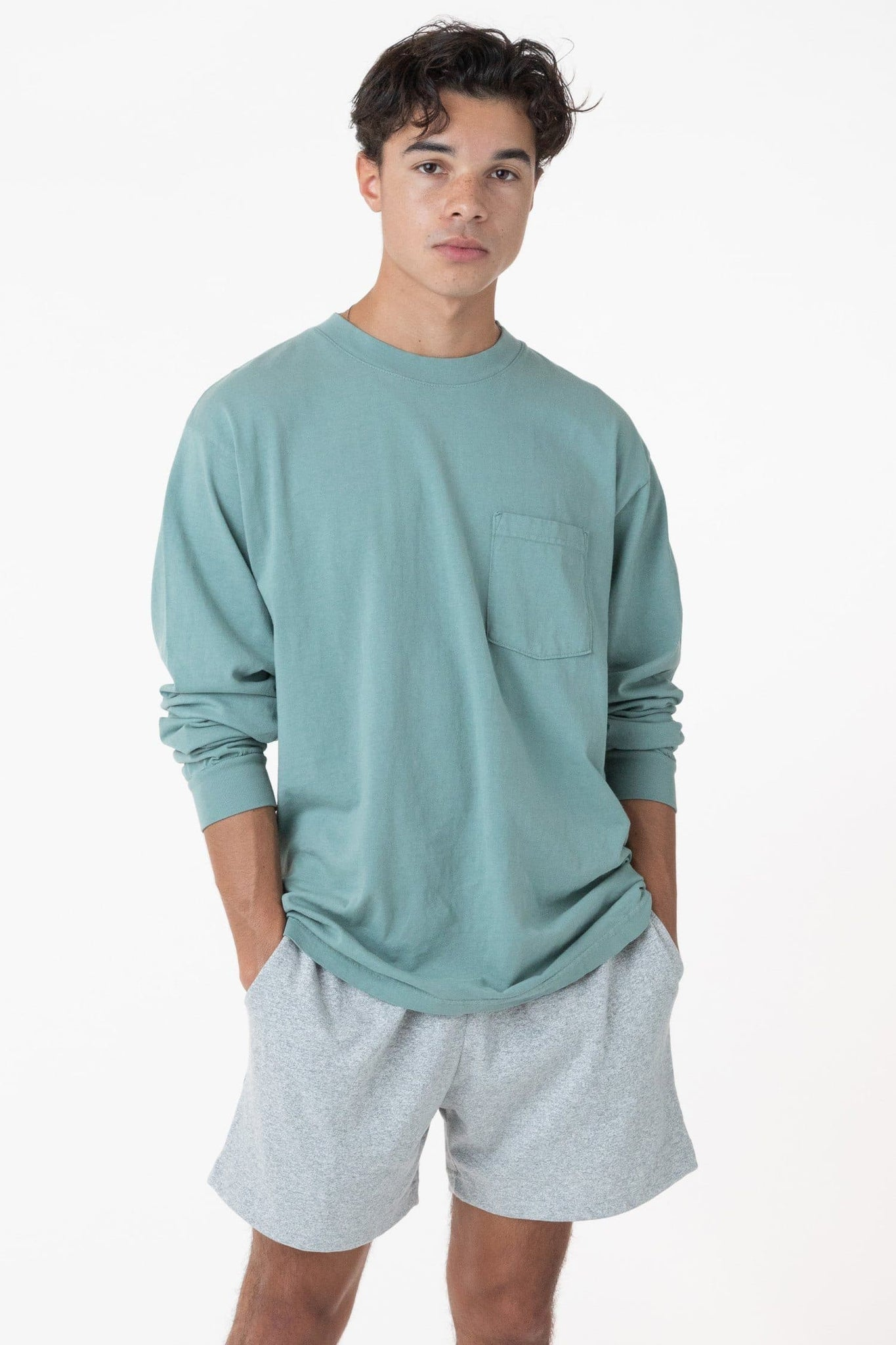 1810GD - Long Sleeve Garment Dye Pocket T-Shirt