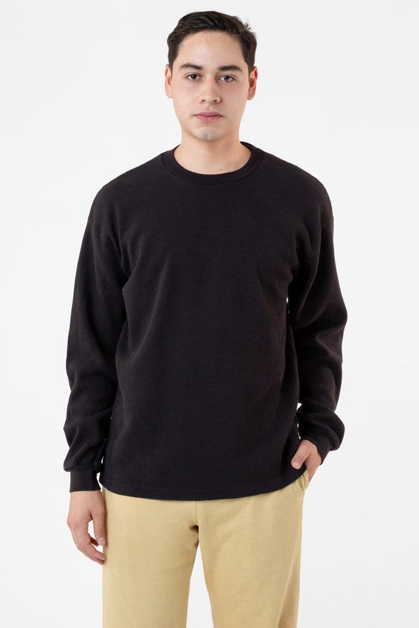 Tx407gd Long Sleeve Heavy Thermal Crew Neck Los Angeles Apparel