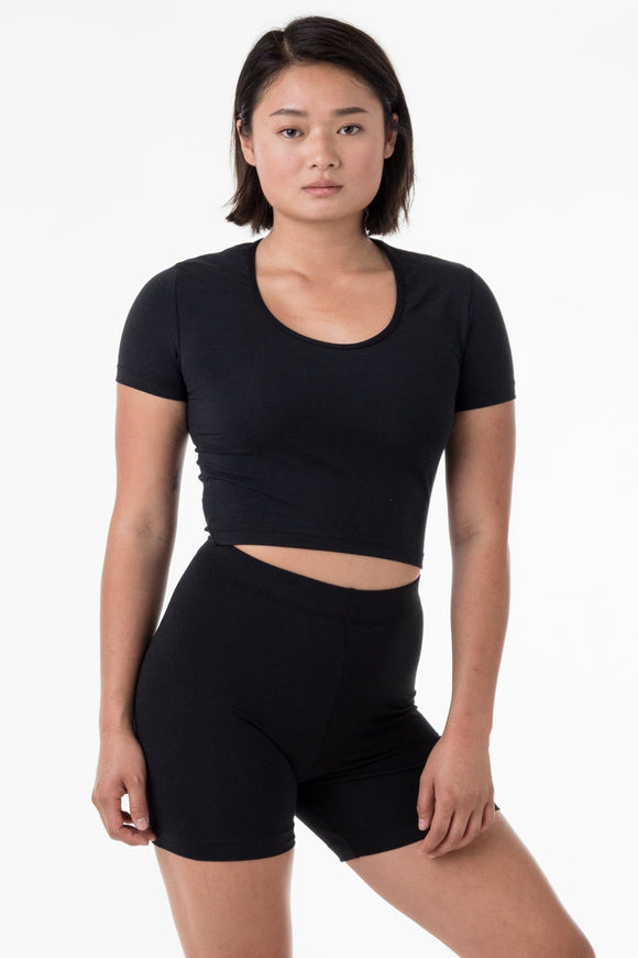 f68a245319 8397 - Short Sleeve Crop Top Product Title