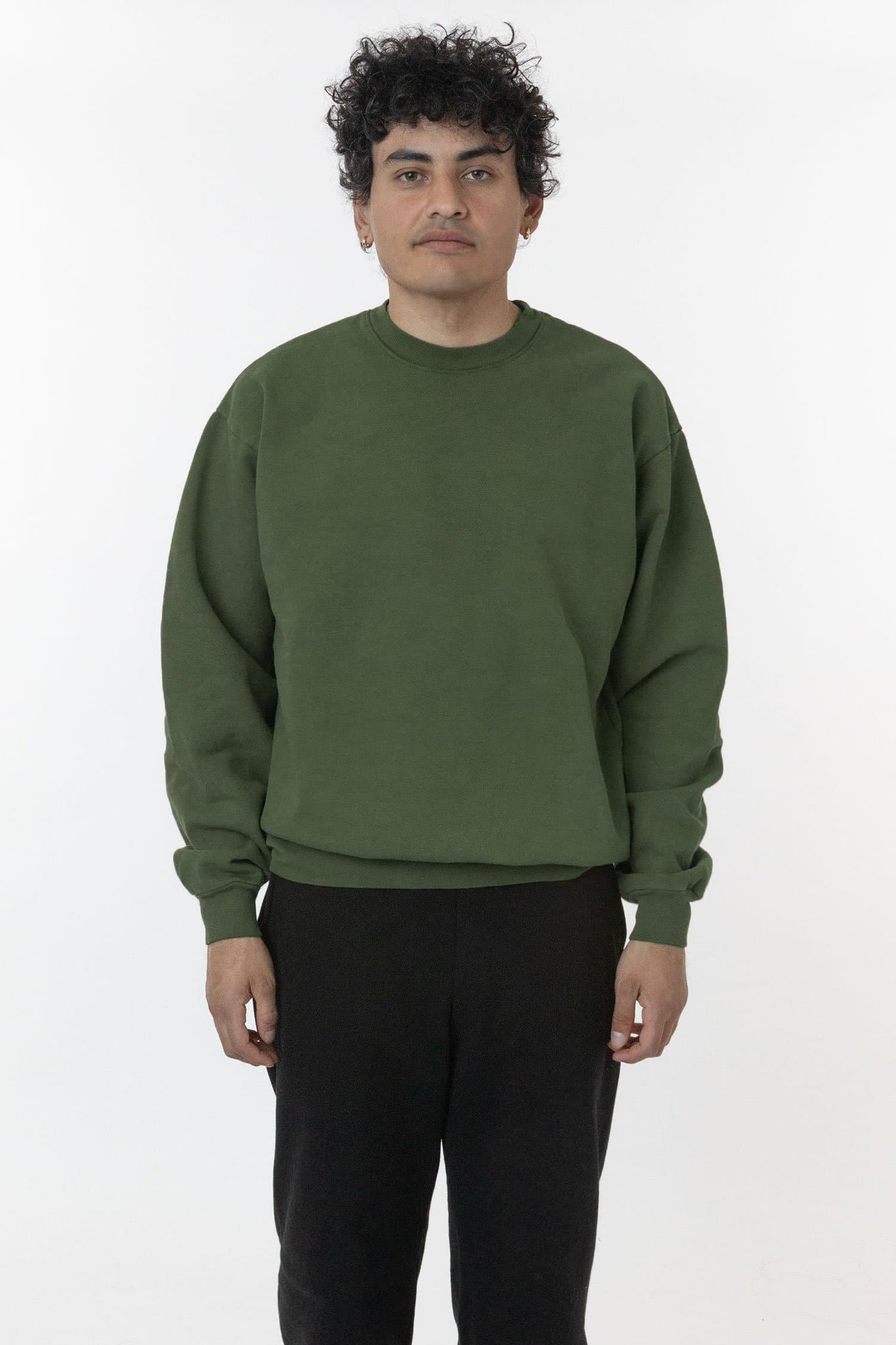 HF07GD - 14oz. Garment Dye Heavy Fleece Pullover Crewneck Sweatshirt