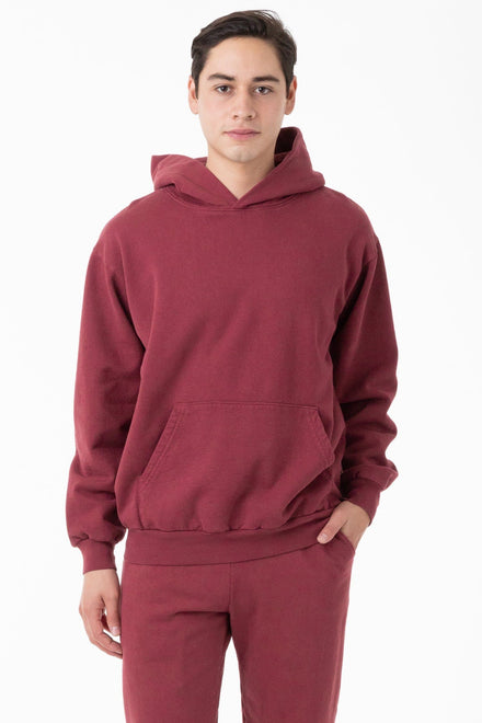HF09GD - Garment Dye 14oz. Heavy Fleece Hooded Pullover Sweatshirt