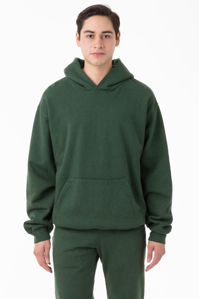 Hf09gd Garment Dye 14oz Heavy Fleece Hooded Pullover Sweatshirt Los Angeles Apparel