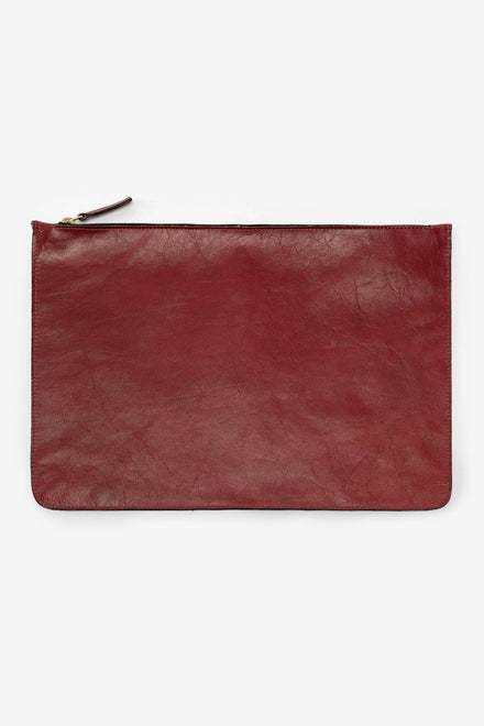 RLH3413 - Large Leather Zip Pouch