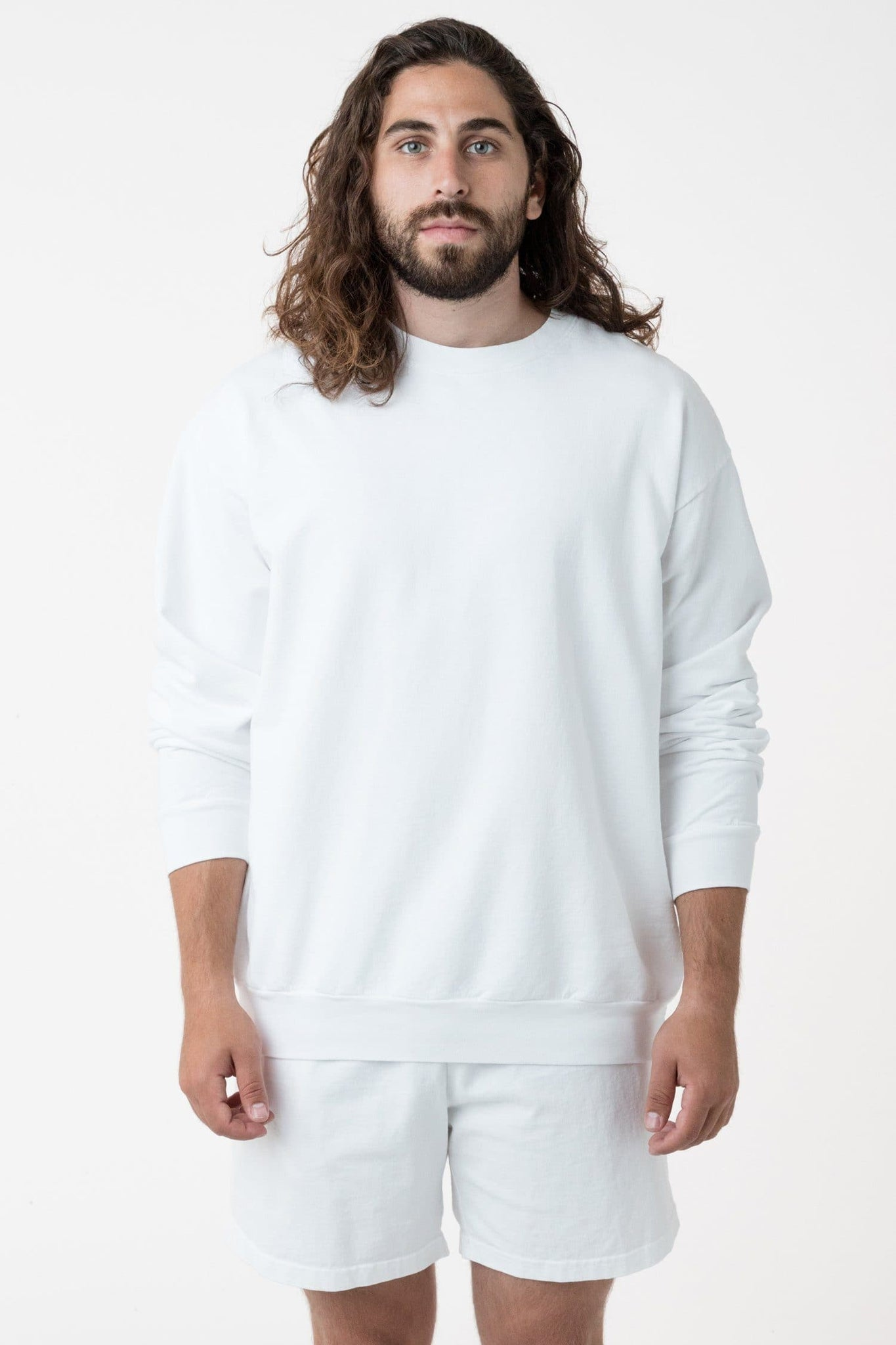 MWT07GD - Long Sleeve Garment Dye French Terry Pullover