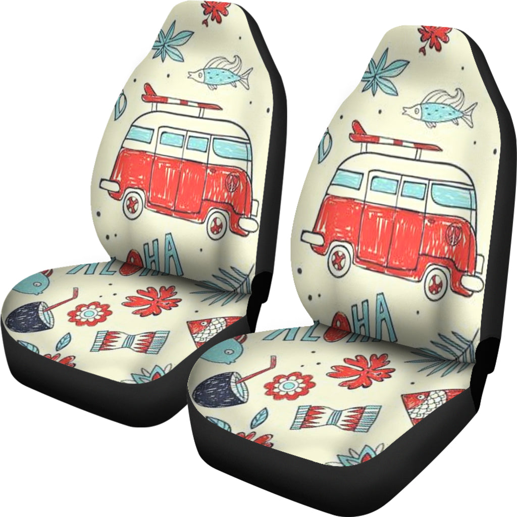 Hippie Bus Car Seat Covers Give Your Car A Makeover Thecojoshop