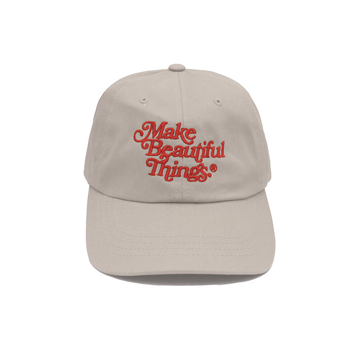 Make Beautiful Things® — Dad Hat (Stone) 綺麗な - Arkadia1981