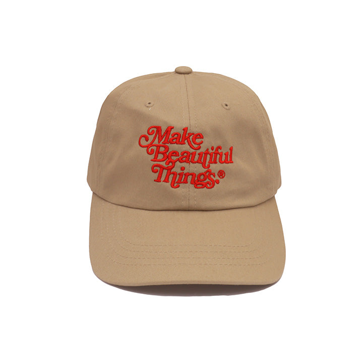 Make Beautiful Things® — Dad Hat (Khaki) 綺麗な - Arkadia1981