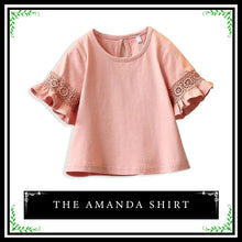 The Amanda Blouse | Toddler Girl Blouse With Basic Sleeve Ruffles