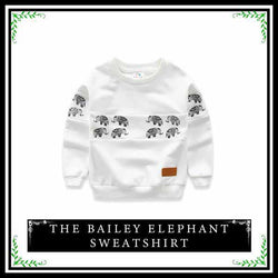 The Bailey Sweatshirt | Toddler Girls and Boys Sweatshirt Elephant Logo