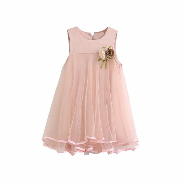 kid dress, baby girl party dress, trendy kids clothes, polyester, cotton, knee length, party, occasions, events, outfit, chic, versatility, confidence, comfortable, pink