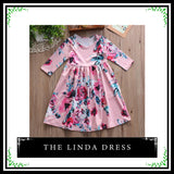 kid dress, floral long sleeve dress, stylish toddler girl clothes, casual, formal, occasions, versatility, confidence, comfortable, pink