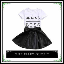 "The Riley Outfit | Adorable Two Piece Skirt Set for ""Mini Boss"" Girl"