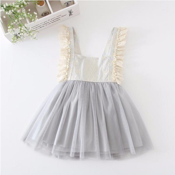 kid dress, gray sleeveless dress, polyester, cotton, sleeveless, knee length, ruffle sleeve, formal, party, occasions, versatility, confidence, comfortable, gray