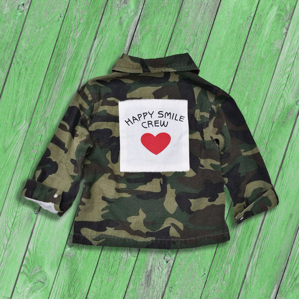 kids outerwear, camo jacket for girl, cotton, polyester, casual, fall, autumn, camouflage, graphic print, green